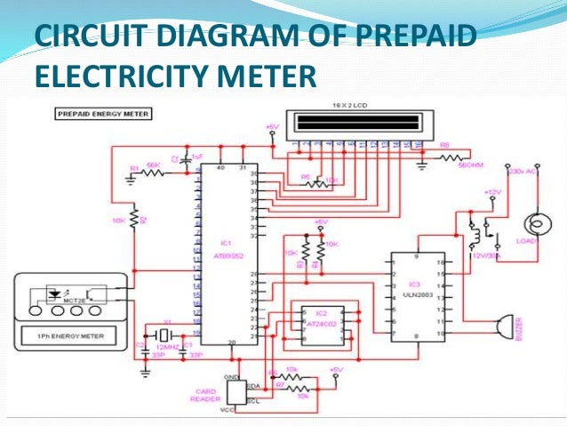 gsm based prepaid electricity meter rh slideshare net Amp Meter Wiring Diagram wiring diagram electric meter