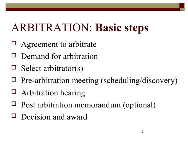arbitration in construction dispute April 2011 construction law briefing  dispute resolution  in construction  pending any final determination of the dispute by arbitration or litigation.