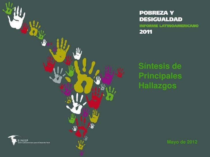 Síntesis dePrincipalesHallazgos       Mayo de 2012