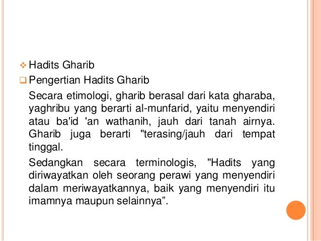 Ppt Hadits