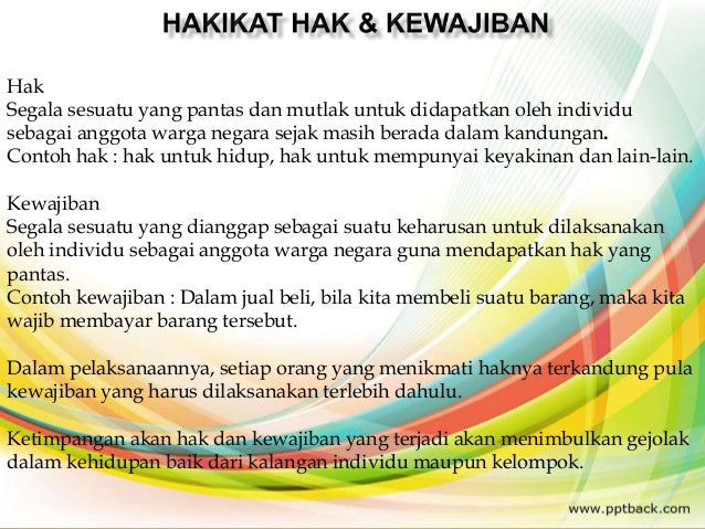 Hak Kewajiban Dan Perilaku Konstitusional Sebagai Warga Negara Indon