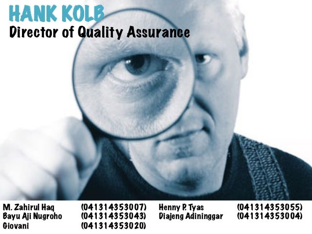 hank kolb case Case method case method teaching cases most popular hank kolb  designed to introduce the systemic nature of product quality and the complexity of quality.