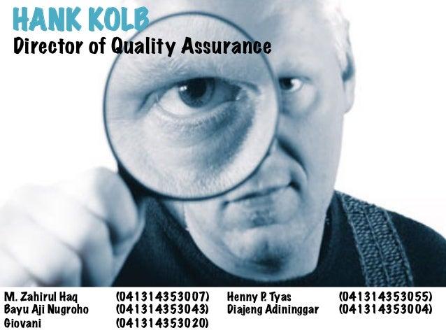 hank kolb director of quality