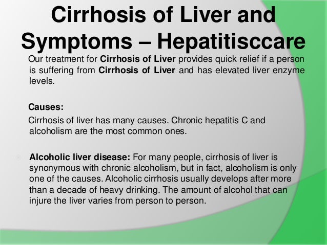 Cirrhosis Symptoms – defenderauto.info