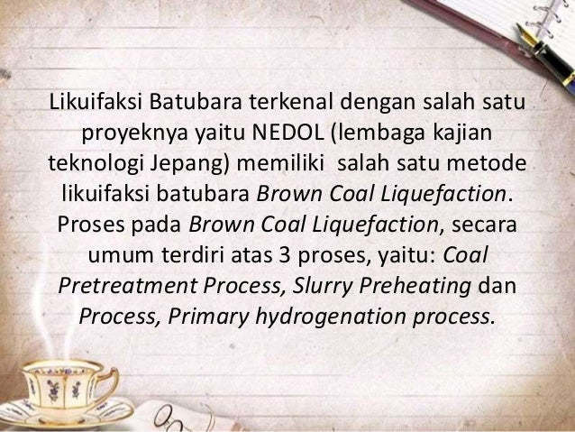 Proses hidrogenasi pada pembuatan batu bara cair diagram alir proses bituminous coal liquefaction ccuart Image collections