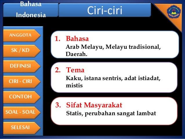Contoh Hikayat Menggunakan Bahasa Melayu Wo Contoh