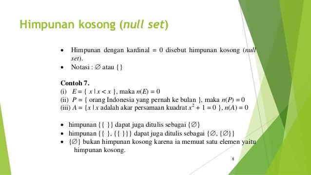 Contoh Himpunan Kosong Matematika - Gamis Murni