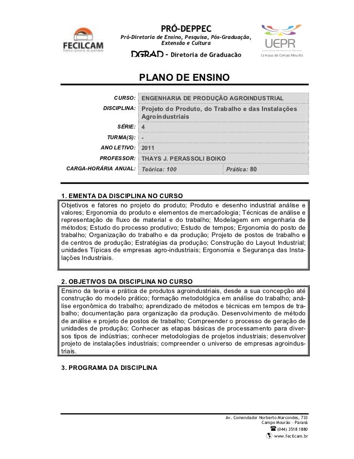PRÓ-DEPPEC                    Pró-Diretoria de Ensino, Pesquisa, Pós-Graduação,                                    Extensã...