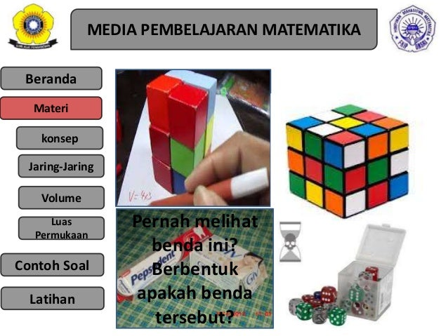 Media Pembelajaran Matematika Smp Ppt Ppt Media Pembelajaran Materi Kubus Dan Balok Ppt