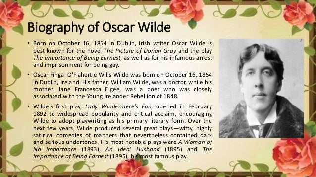 literary analysis importance of being Oscar wilde, the literary representative of the so-called yellow nineties, stood at the end of the nineteenth century and jeered at the victorian age he ridiculed victorian values most particularly in the importance of being earnest, probably his most popular work turning on the play of words in.