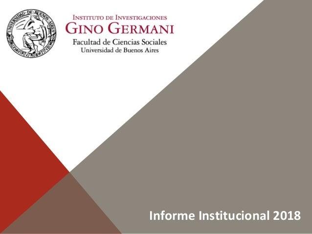 Informe Institucional 2018