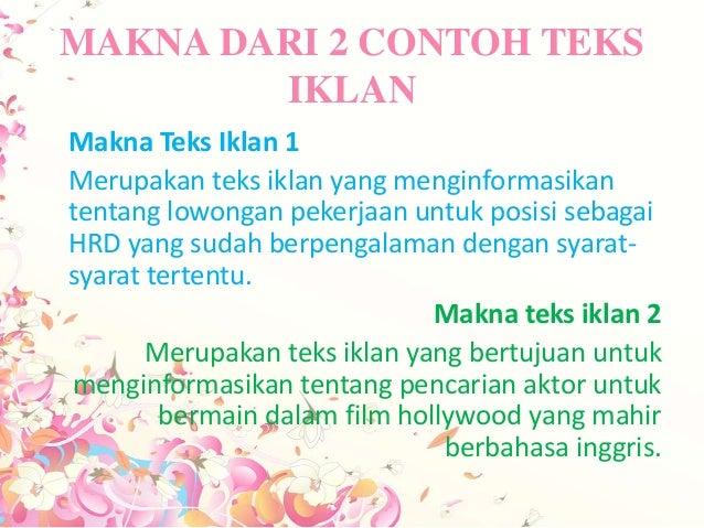 ppt iklan polos b. indonesia