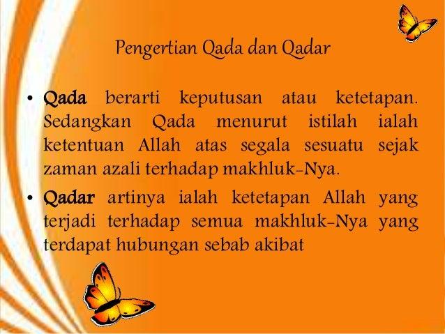 Ppt Iman Kepada Qadha Dan Qadar