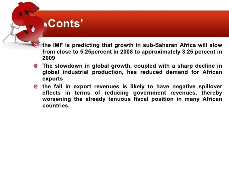 impact of the economic crisis on countries in africa The impact of capital flows on the south african economic growth path since surges in inflows on domestic liquidity are key to understanding financial crises many countries experienced financial crises by this definition south africa had a financial crisis at the end of 2001.