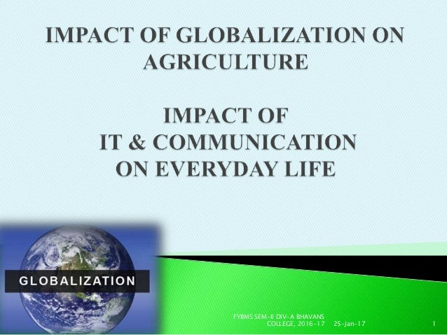 Impact of the agreement on agriculture