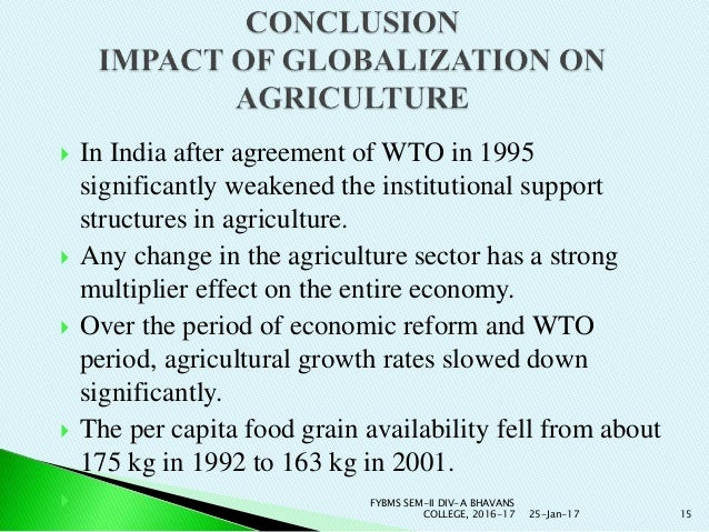 Impact Of WTO on Indian Economy Essay