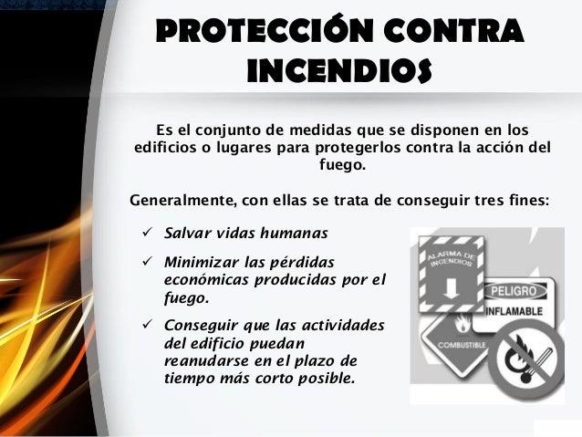 Proteccion contra incendios for Medidas contra incendios