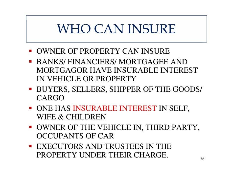 Insurable Interest Car Insurance