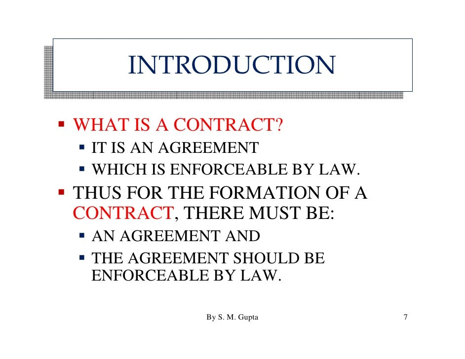 Basics of 'Indian Contract Act, 1872 & 'Principles Of ...