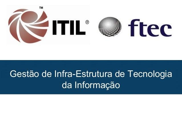Gestão de Infra-Estrutura de Tecnologia da Informação