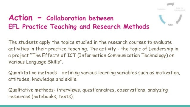 Collaborative Teaching Research ~ Collaboration between a research methodology course and