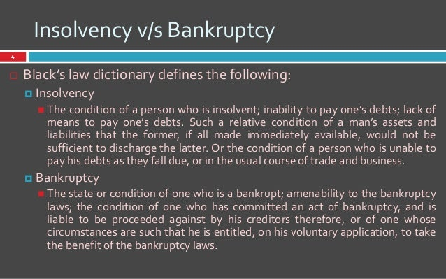 insolvency definition law