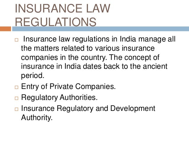 regulation of insurance business in india pdf