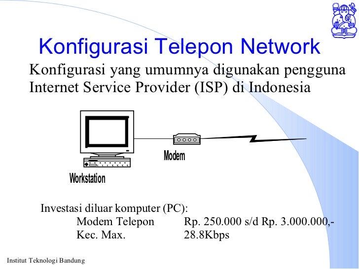 Konfigurasi Telepon Network Konfigurasi yang umumnya digunakan pengguna Internet Service Provider (ISP) di Indonesia Inves...
