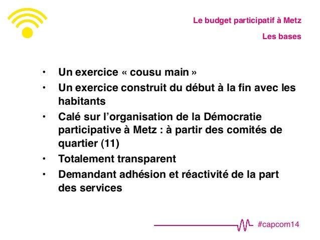 #CapCom14 : AT9 – Comment mettre en place un budget participatif ?  Slide 3