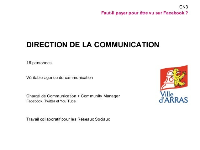 DIRECTION DE LA COMMUNICATION  16 personnes  Véritable agence de communication  Chargé de Communication + Community Manage...