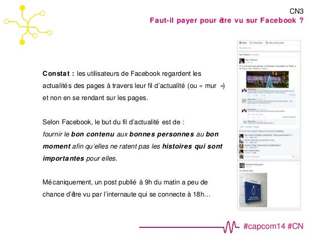 #capcom14 #CN  Constat : les utilisateurs de Facebook regardent les  actualités des pages à travers leur fil d'actualité (...