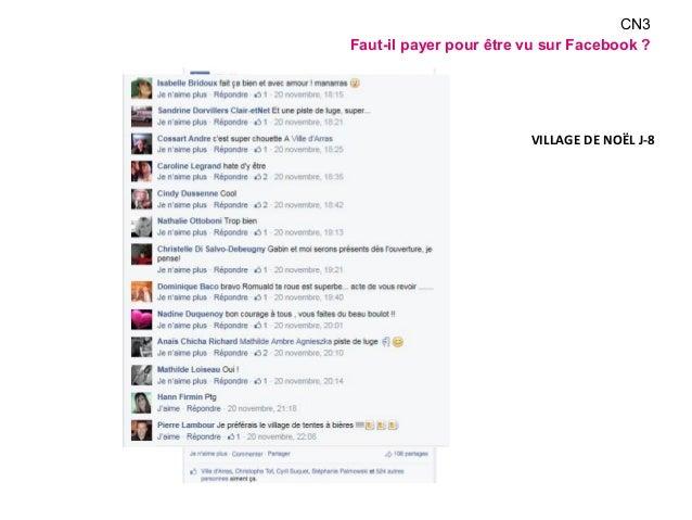 CN3  Faut-il payer pour être vu sur Facebook ?  VILLAGE DE NOËL J-8