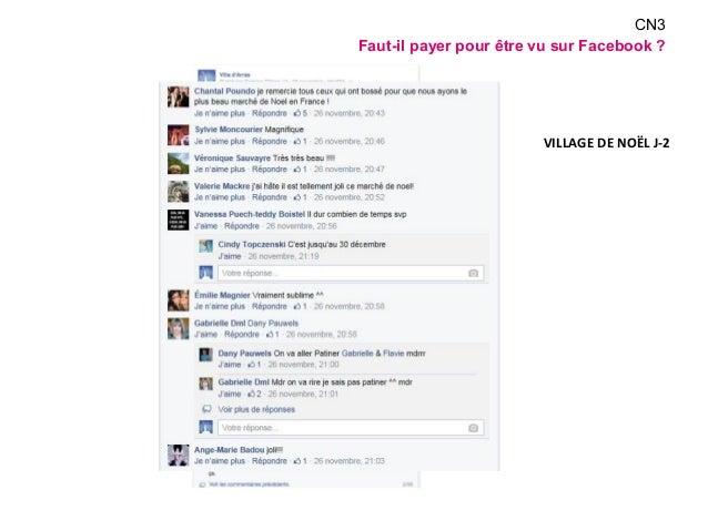 CN3  Faut-il payer pour être vu sur Facebook ?  VILLAGE DE NOËL J-2