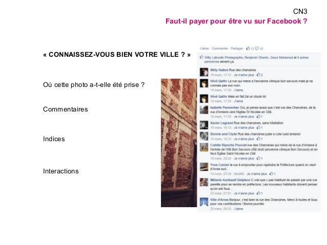 « CONNAISSEZ-VOUS BIEN VOTRE VILLE ? »  Où cette photo a-t-elle été prise ?  Commentaires  Indices  Interactions  CN3  Fau...