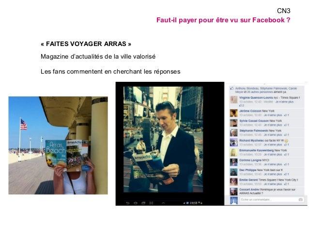 « FAITES VOYAGER ARRAS »  Magazine d'actualités de la ville valorisé  Les fans commentent en cherchant les réponses  CN3  ...