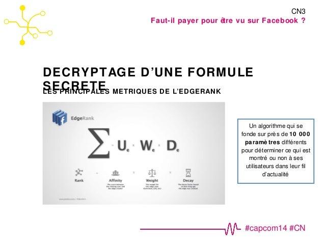Faut-il payer pour être vu sur Facebook ?  DECRYPTAGE D'UNE FORMULE  SECRETE  CN3  #capcom14 #CN  LES PRINCIPALES METRIQUE...
