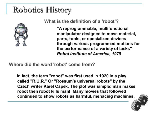 Intro To Robotics 1