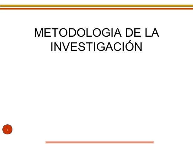 1 METODOLOGIA DE LA INVESTIGACIÓN