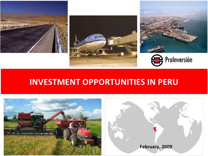 February, 2009 INVESTMENT OPPORTUNITIES IN PERU