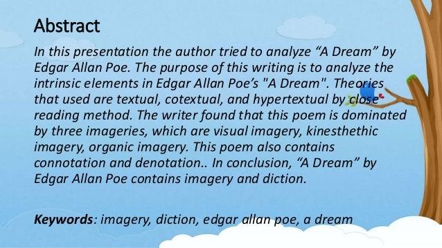 edgar allan poe a dream within a dream meaning