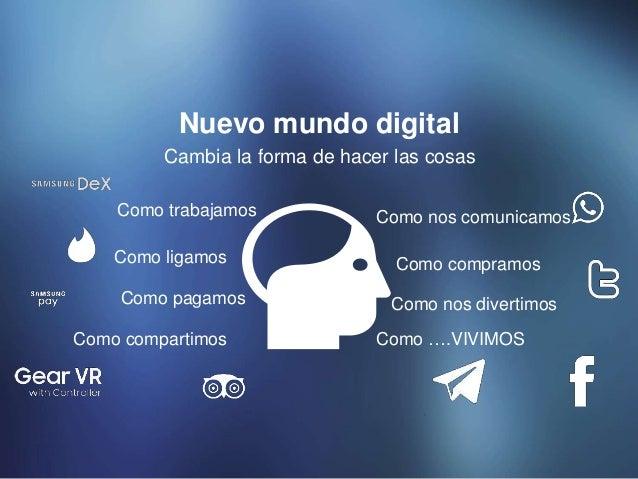 Cambia la forma de hacer las cosas Nuevo mundo digital Como nos comunicamos Como nos divertimos Como compartimos Como paga...