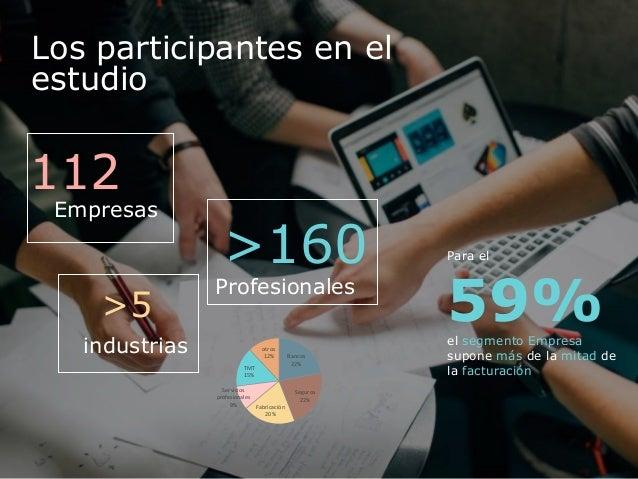 Los participantes en el estudio Para el 59%el segmento Empresa supone más de la mitad de la facturación >5 industrias 112 ...