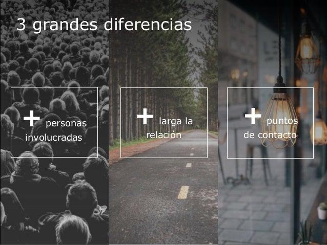 3 grandes diferencias +personas involucradas +larga la relación +puntos de contacto