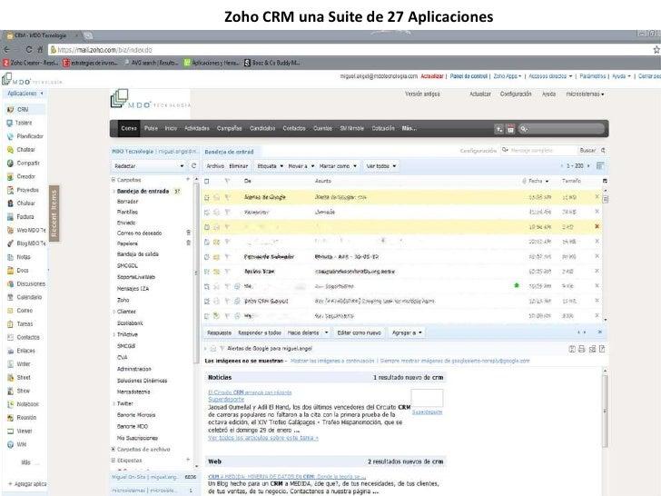 Zoho CRM una Suite de 27 Aplicaciones