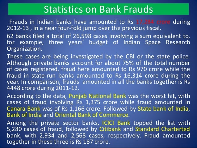Bank frauds in india essay