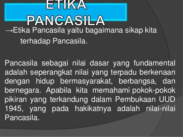 Power Point Pancasila Sebagai Sistem Etika