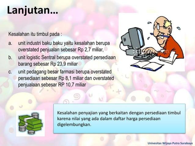 Lanjutan… Univesitas Wijaya Putra Surabaya Kesalahan itu timbul pada : a. unit industri baku baku yaitu kesalahan berupa o...