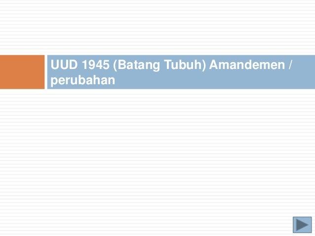 KONSTITUSI DALAM KONTEKS KETATANEGARAAN REPUBLIK INDONESIA