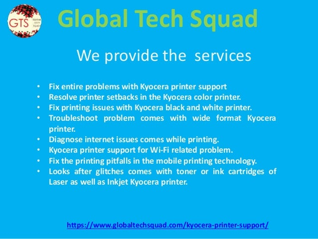 Support for kyocera printer |1-800-294-5907(USA/Canada)