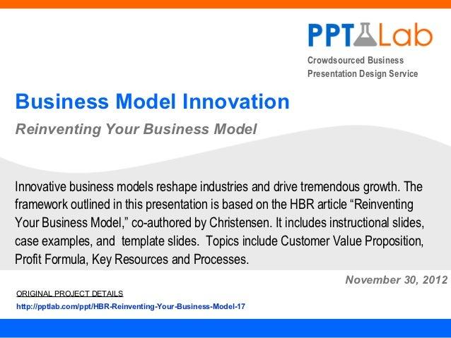 Crowdsourced Business                                                               Presentation Design ServiceBusiness Mo...